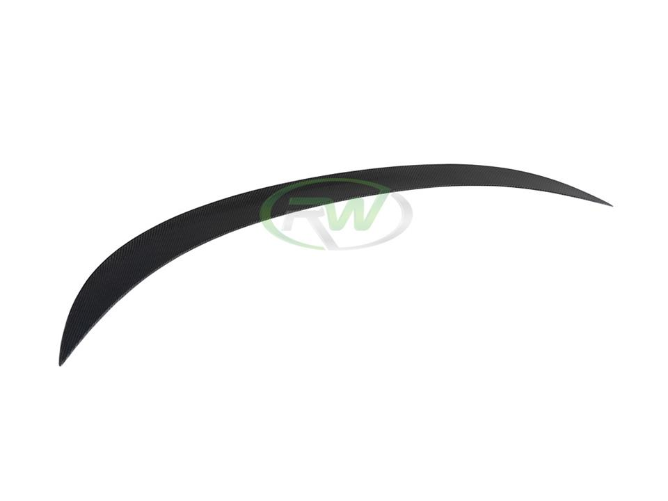 rw carbon fiber bmw f06 f13 performance style cf trunk spoiler