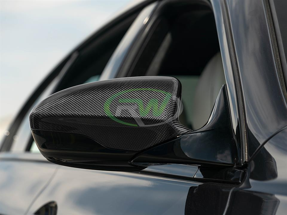 rw carbon fiber bmw f06 m6 cf mirror cover replacements