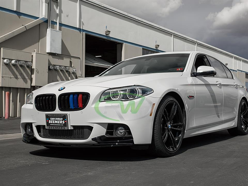 BMW F10 550i gets a RW Performance Style Plastic Front Lip Spoiler