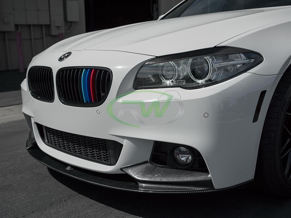 rw carbon bmw f10 528i performance style front cf lip