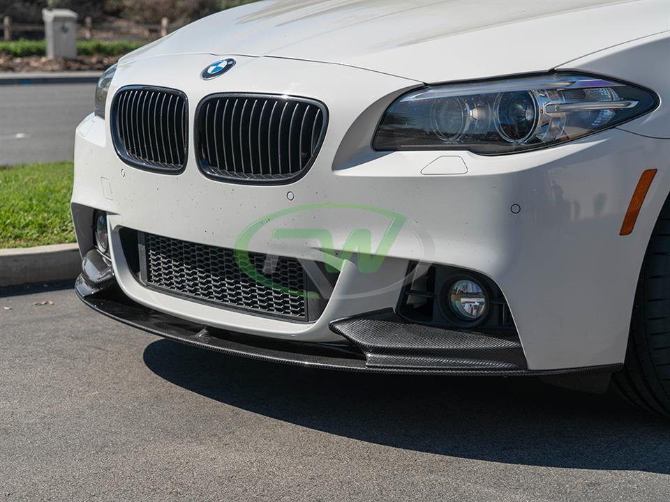 rw carbon fiber bmw f10 5 series performance style cf front lip