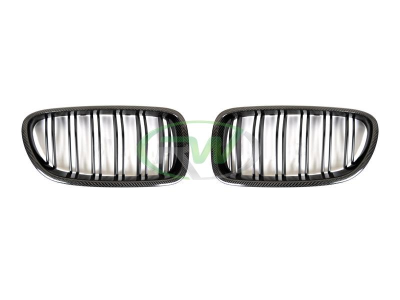 rw carbon fiber bmw f10 cf front grille replacements