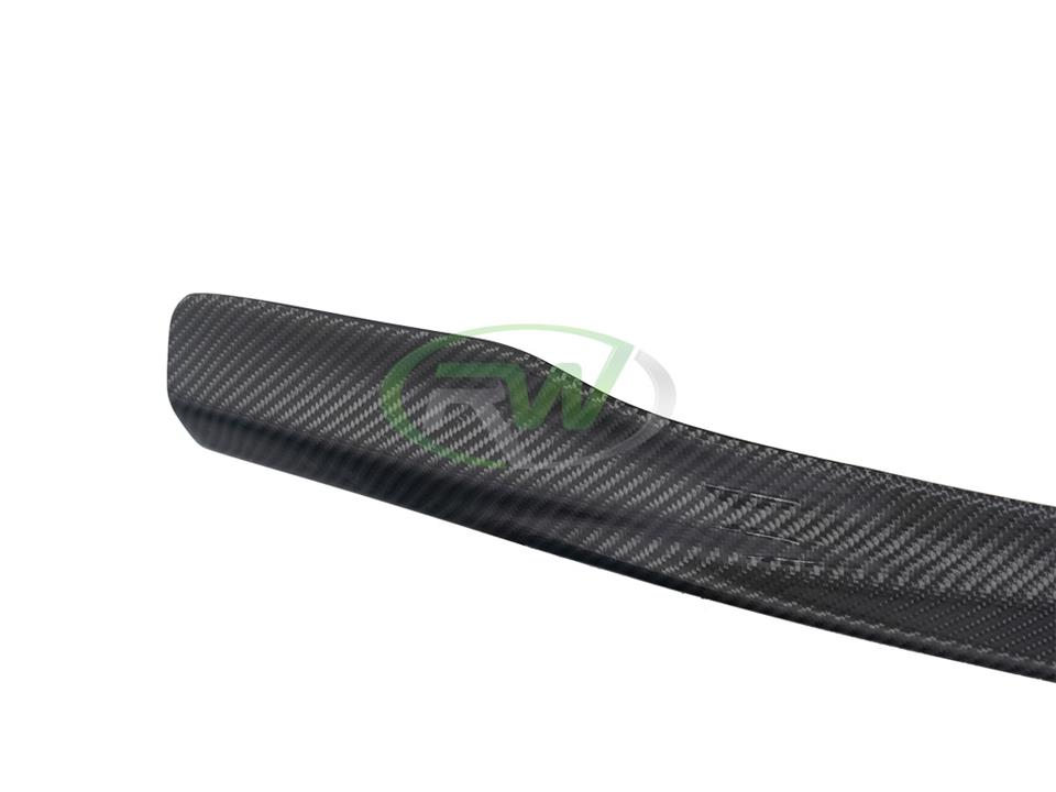 rw carbon fiber bmw f10 m5 center cf front spoiler