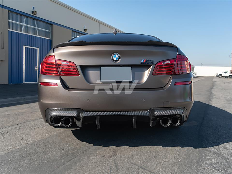 BMW F10 CS Style Carbon Fiber Trunk Spoiler