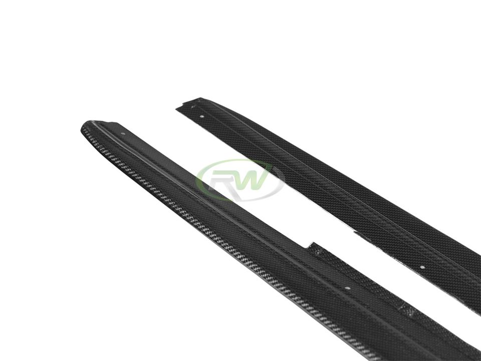 rw carbon fiber bmw f10 cf side skirt extensions