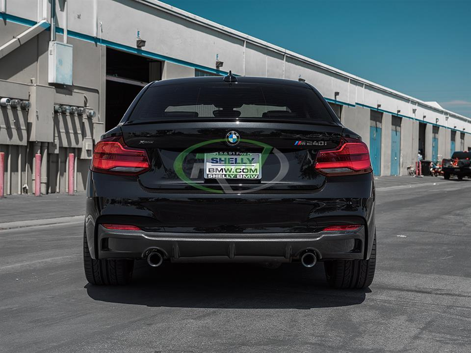 rw carbon bmw f22 m240i exotics tuning rear diffuser