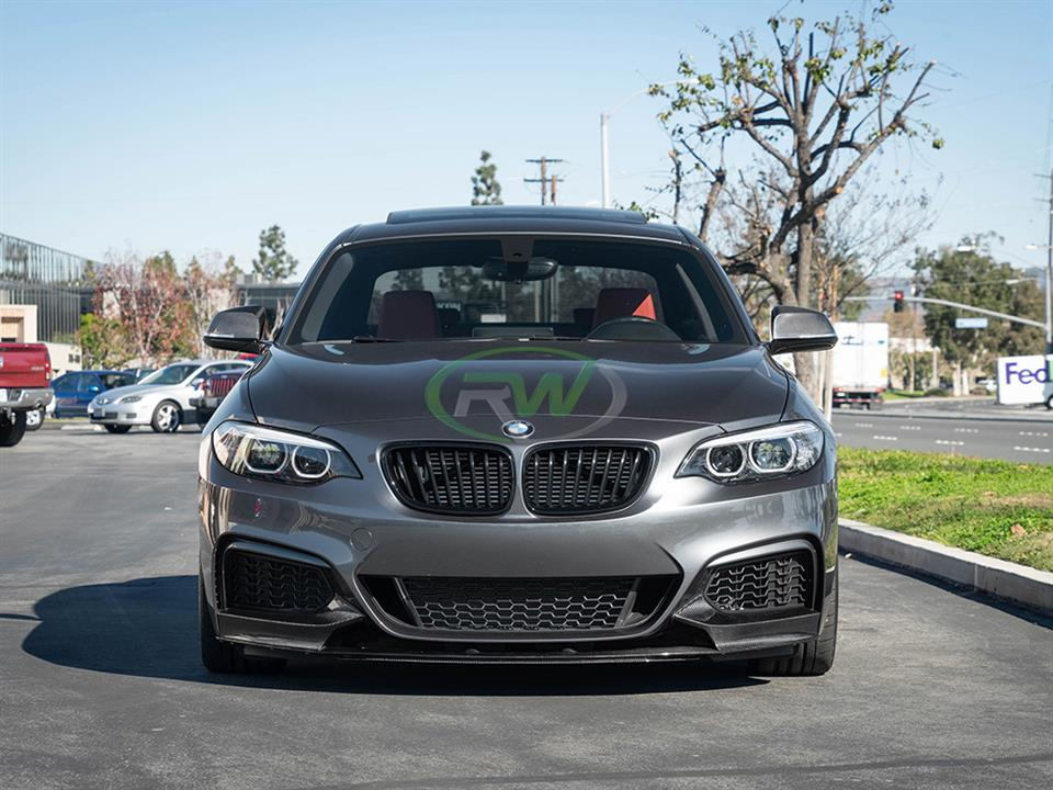 rw carbon fiber bmw f22 m240i performance style front lip