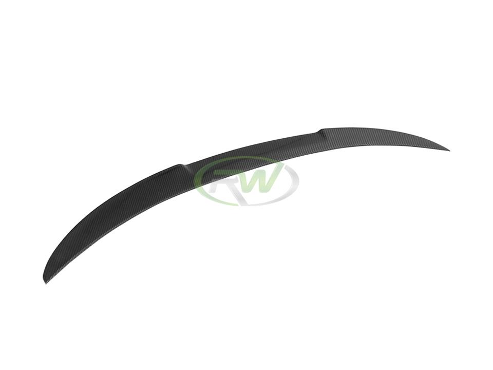rw carbon fiber bmw f30 f80 m4 style trunk spoiler