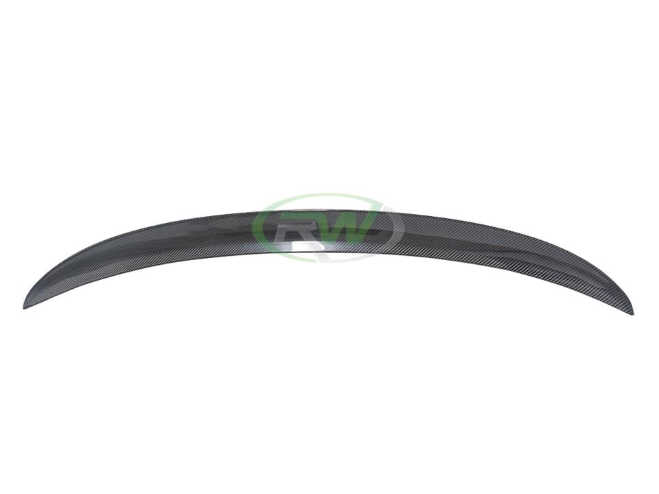 rw carbon fiber bmw f30 328 335 340 cf performance style trunk spoiler