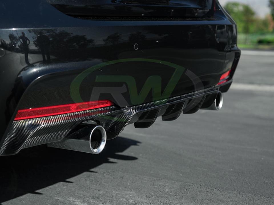 Rw Carbon Bmw f30 335i performance carbon rear diffuser