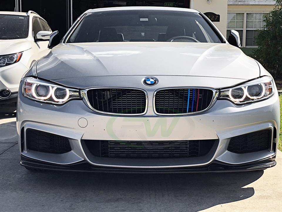 rw carbon bmw f32 435i coupe 3d style cf front lip spoiler