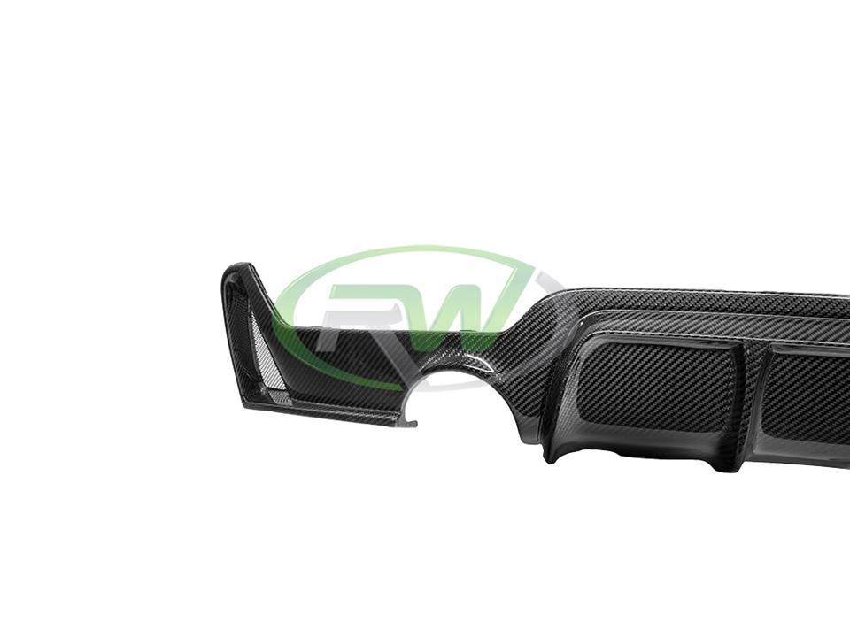 rw carbon fiber bmw f32 f33 f36 4 series m sport performance rear cf diffuser