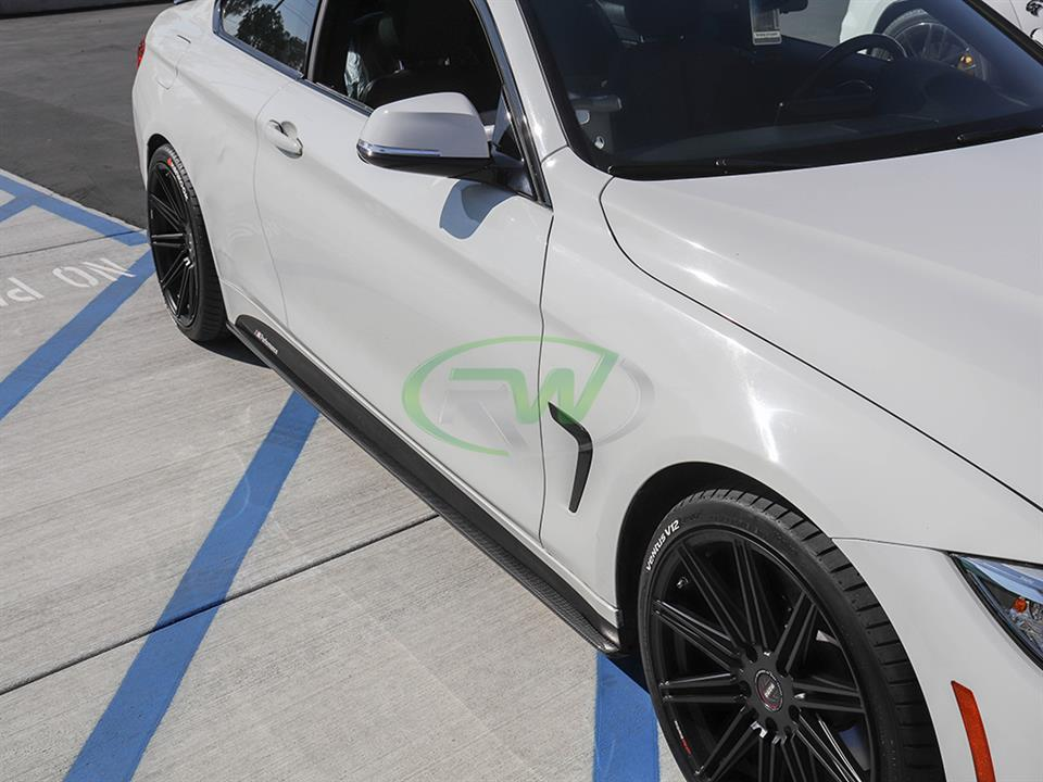rw carbon fiber bmw f32 carbon fiber side skirt extensions