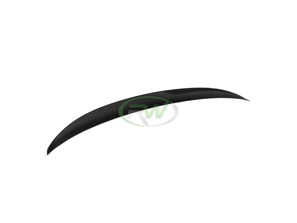 rw carbon fiber bmw f32 performance style cf trunk spoiler