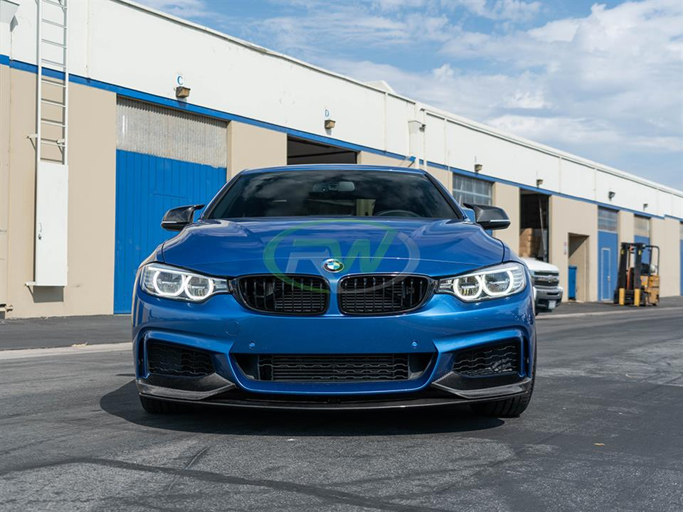 rw carbon fiber bmw f32 4 series performance style front lip
