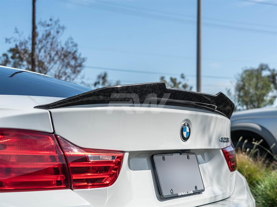 rw carbon fiber bmw f32 forged carbon gtx style trunk spoiler