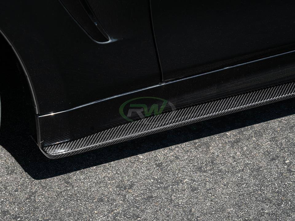 rw carbon fiber bmw f36 cf side skirt extensions
