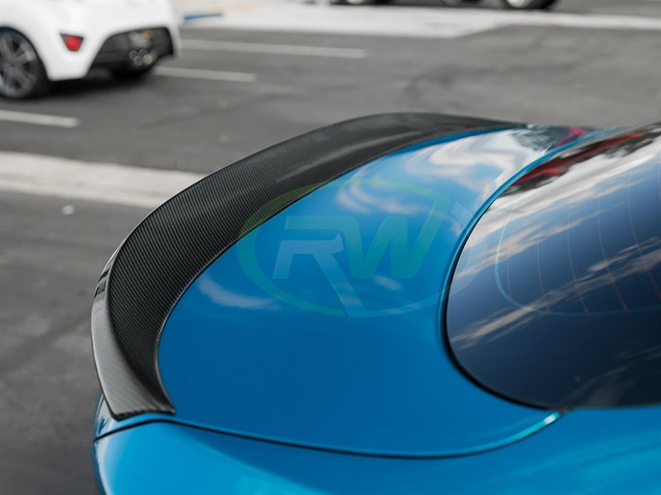 snapper rocks blue bmw f36 440i grand coupe rw carbon fiber performance style cf trunk spoiler