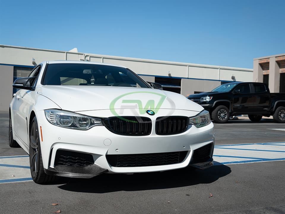 rw carbon fiber bmw f36 performance style carbon fiber splitters