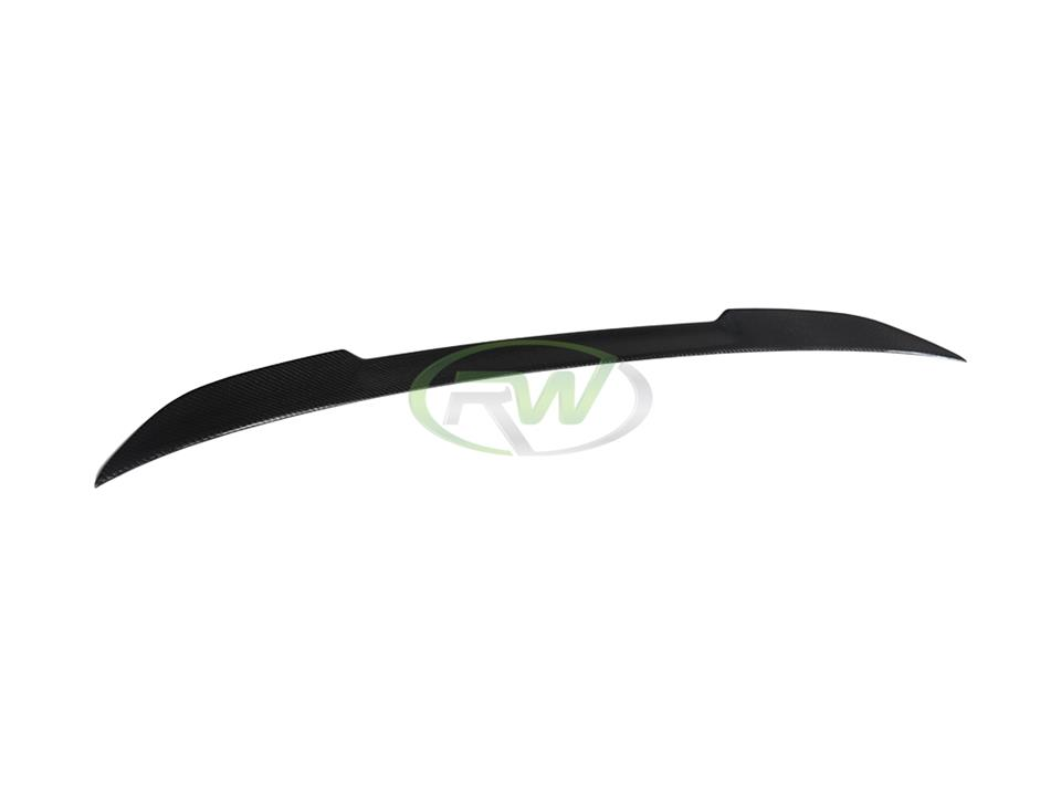 rw carbon fiber bmw f36 gran coupe cs style trunk spoiler