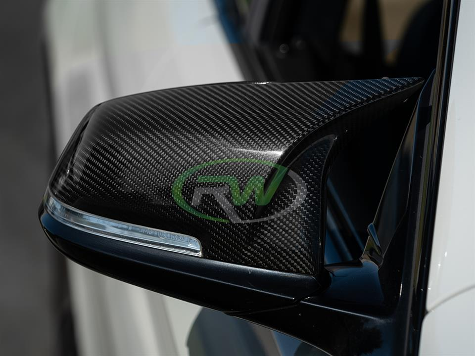 rw carbon fiber bmw f36 m styled mirror cap replacements