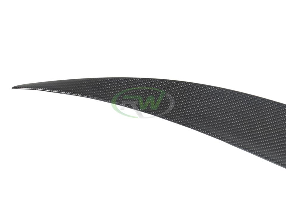rw carbon fiber bmw f36 performance style cf trunk spoiler