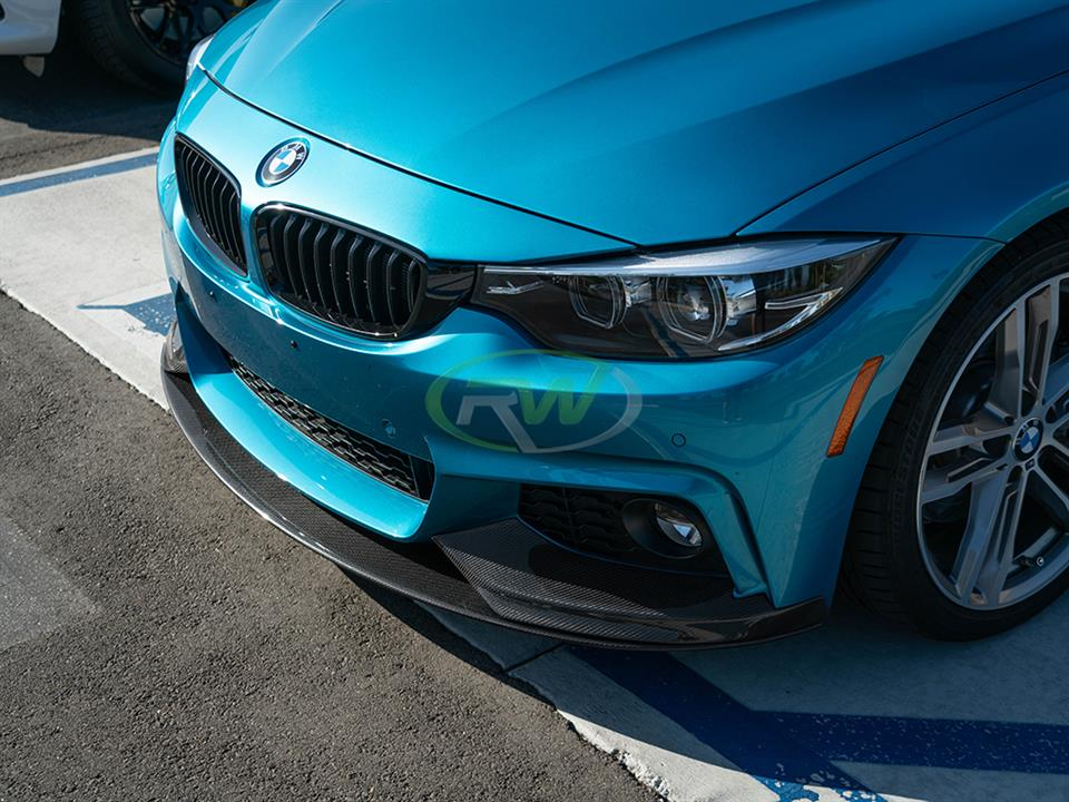 rw carbon fiber bmw f36 performance style cf front lip