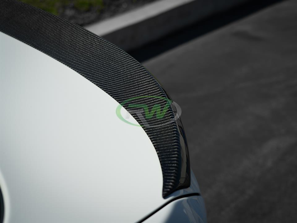 rw carbon fiber bmw f36 performance style trunk spoiler