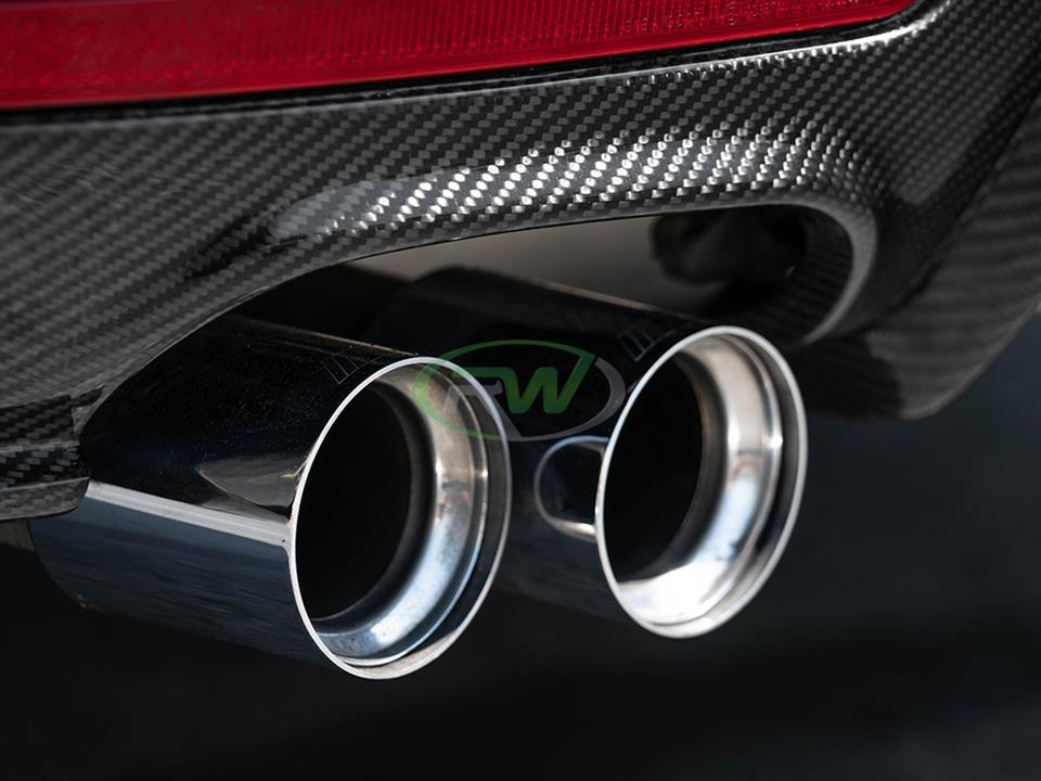 rw carbon fiber bmw f36 4 series cf performance style rear diffuser