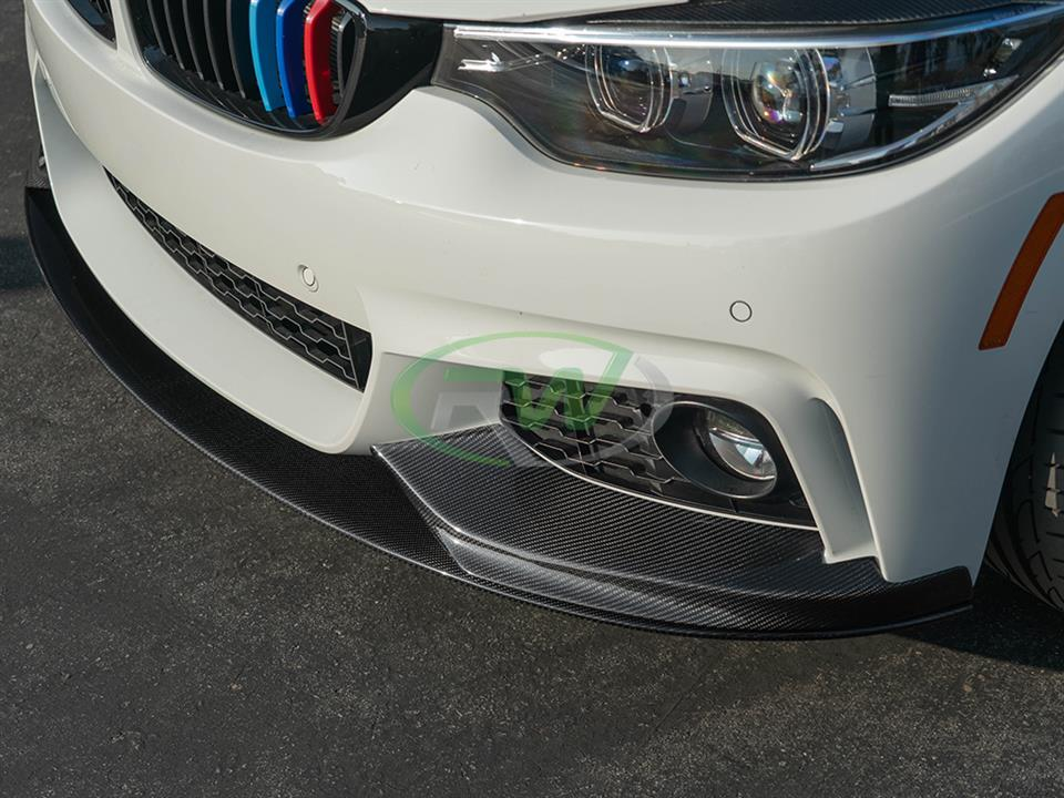 rw carbon fiber bmw f36 carbon fiber performance front lip