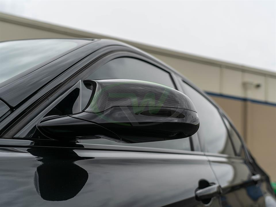 rw carbon fiber bmw f80 mirror cap replacements