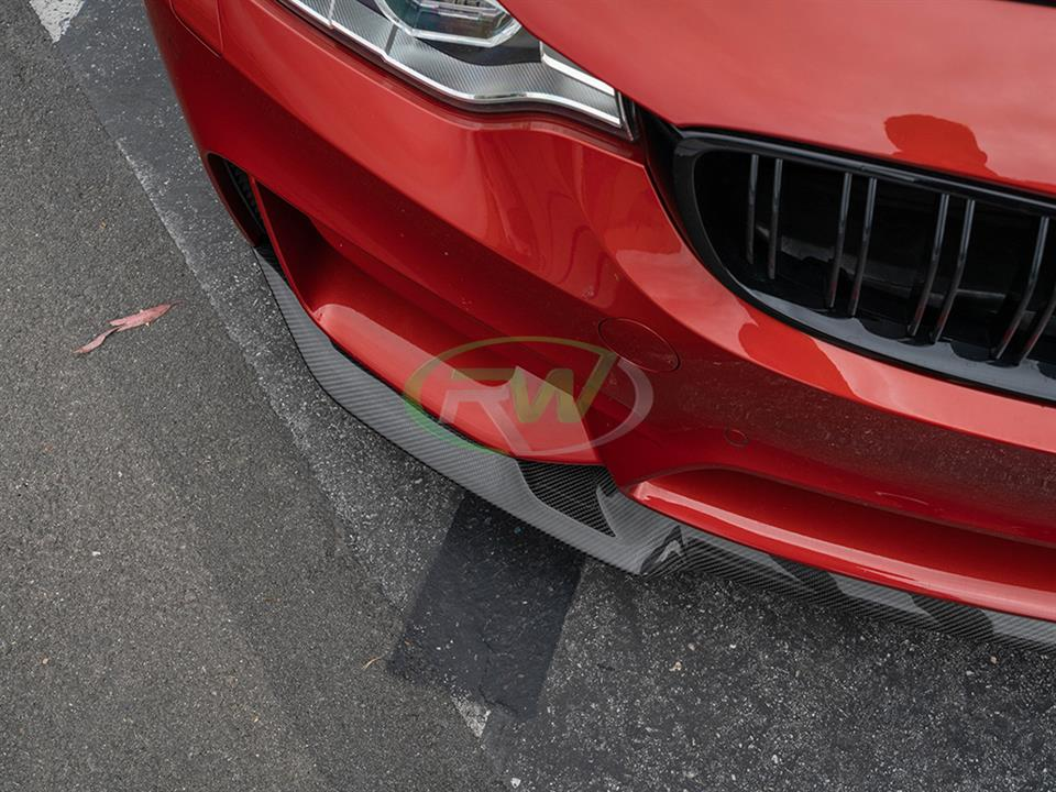 rw carbon bmw d80 m3 cs style cf front lip
