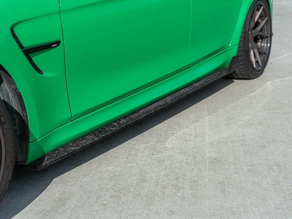 forged carbon fiber side skirts from rw signature for the BMW F80 M3