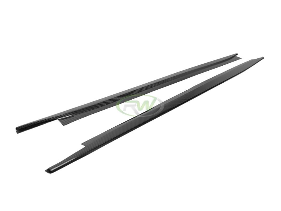 rw carbon fiber bmw f82 m4 cf side skirt extensions