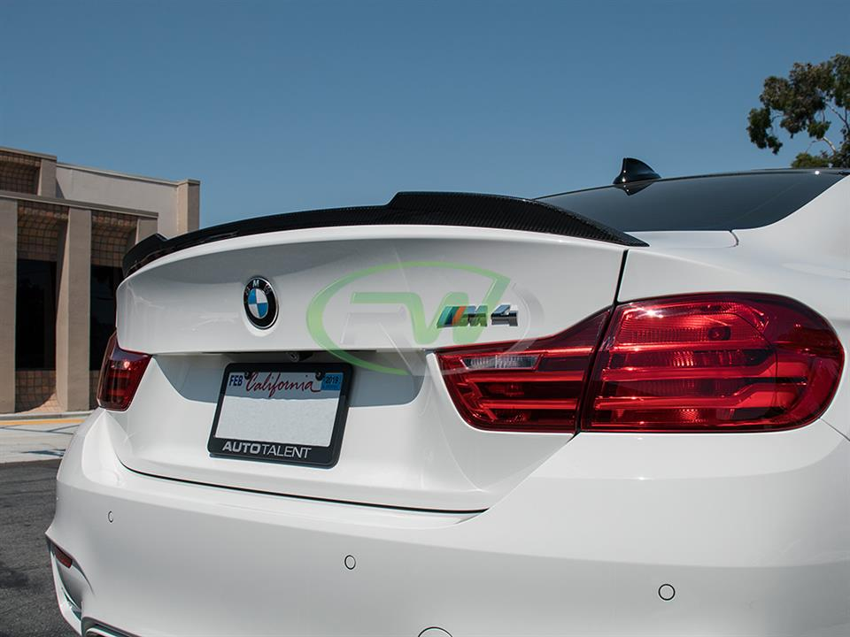BMW F82 M4 gets an RW CS Style CF Trunk Spoiler