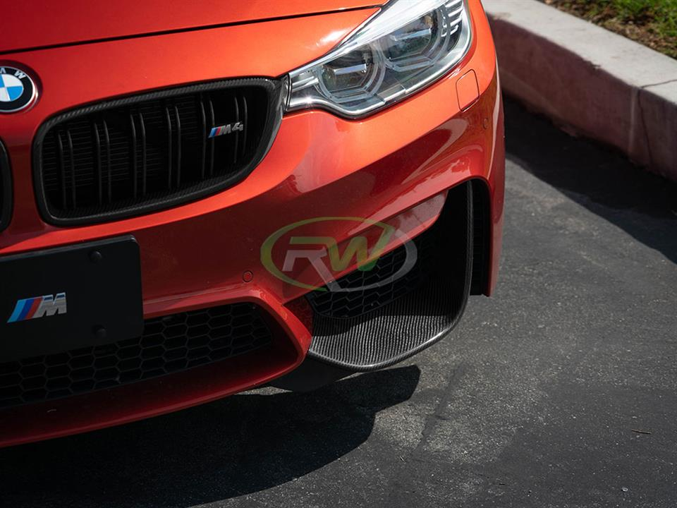 rw carbon fiber bmw f82 m4 performance style carbon fiber splitters