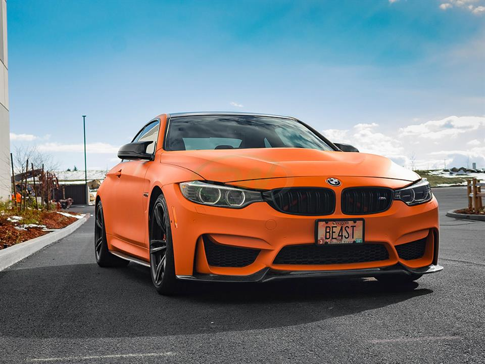 fire orange bmw f82 m4 rw carbon gts style cf hood