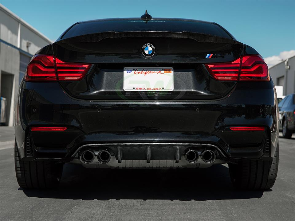 black bmw f82 m4 zcp rw carbon fiber performance style cf rear diffuser