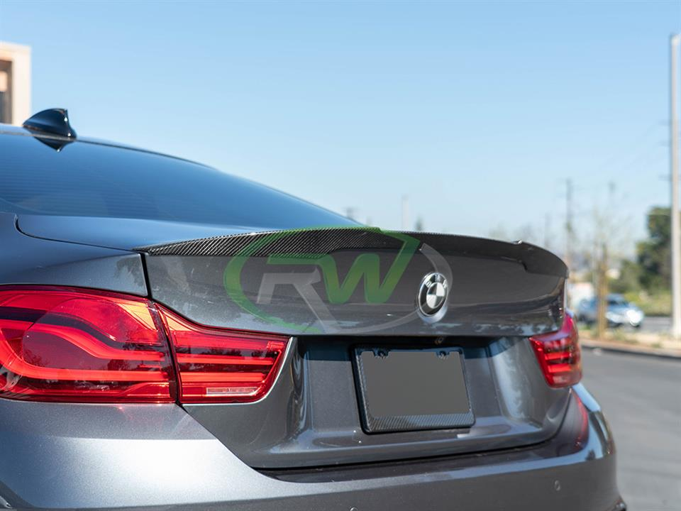 rw carbon fiber bmw f82 m4 performance style carbon fiber trunk spoiler