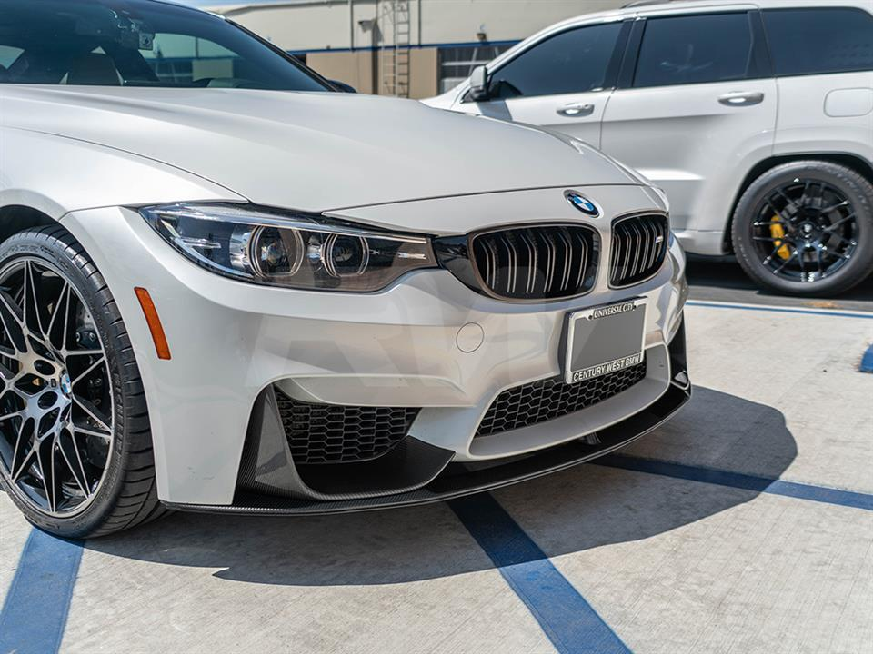 rw carbon fiber bmw f82 m4 performance style carbon fiber front lip