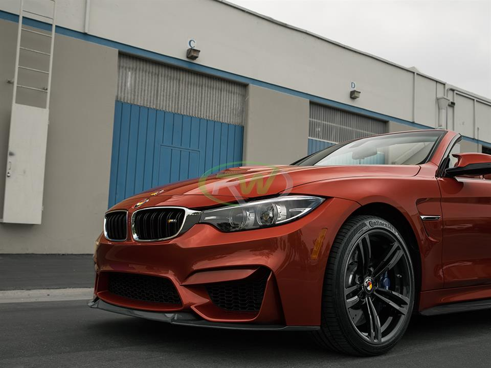 Sakhir orange bmw f83 m4 rw carbon fiber cf cs style front lip