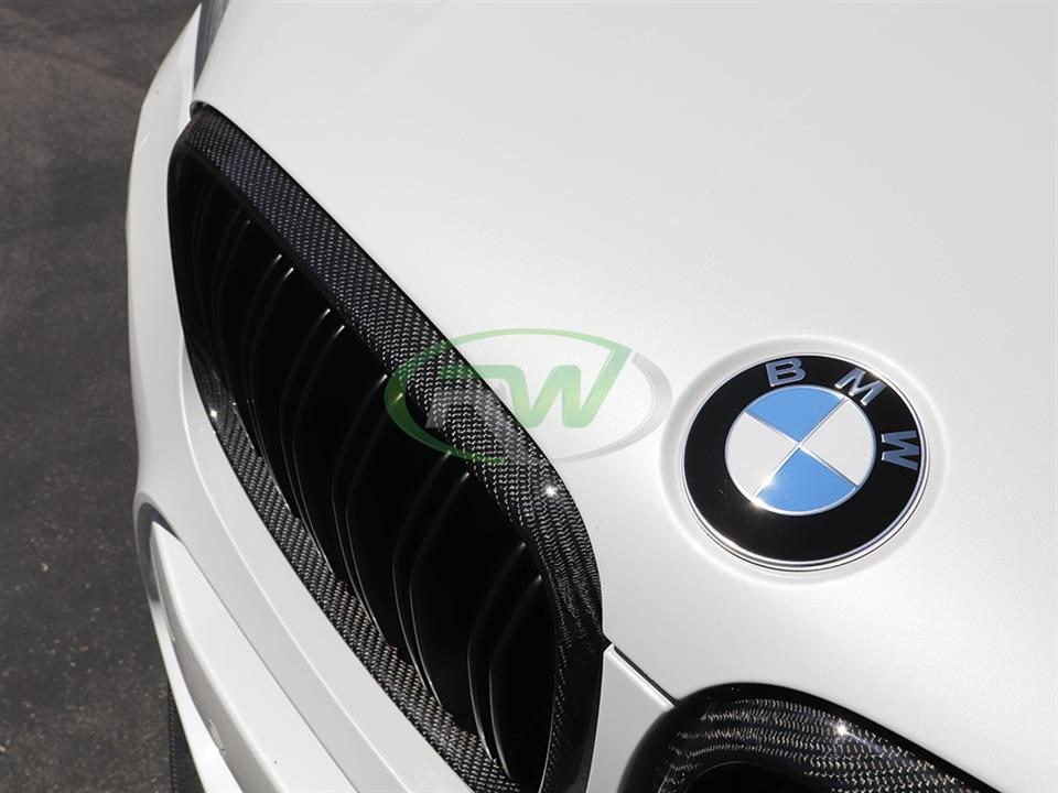 rw carbon fiber bmw f85 x5m cf grille replacements