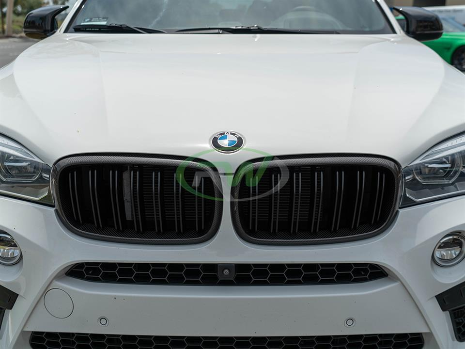 rw carbon fiber bmw f86 x6m cf front grille replacements