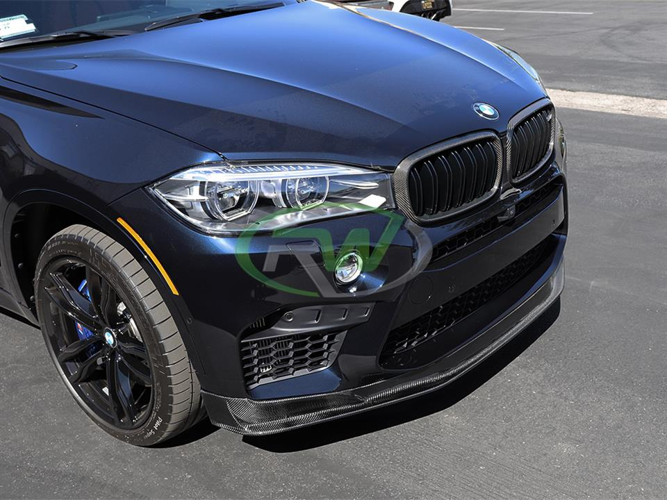 rw carbon bmw f86 x6m carbon fiber front grill replacement