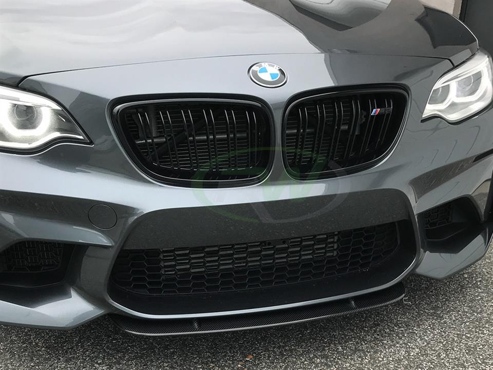 bmw f87 m2 center carbon fiber front lip spoiler. Black Bedroom Furniture Sets. Home Design Ideas