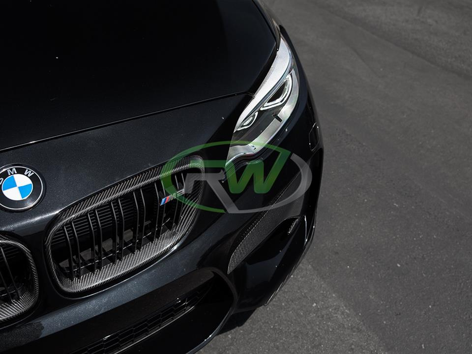 black bmw f87 m2 with rw carbon fiber cf front grill replacements