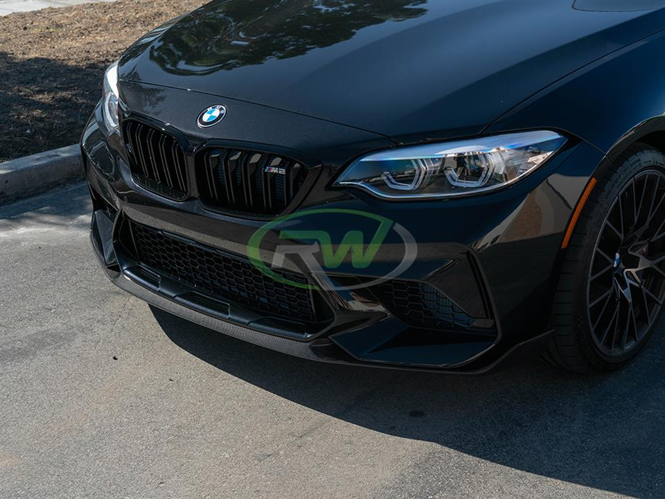 rw carbon fiber bmw f87 m2 competition cf front lip