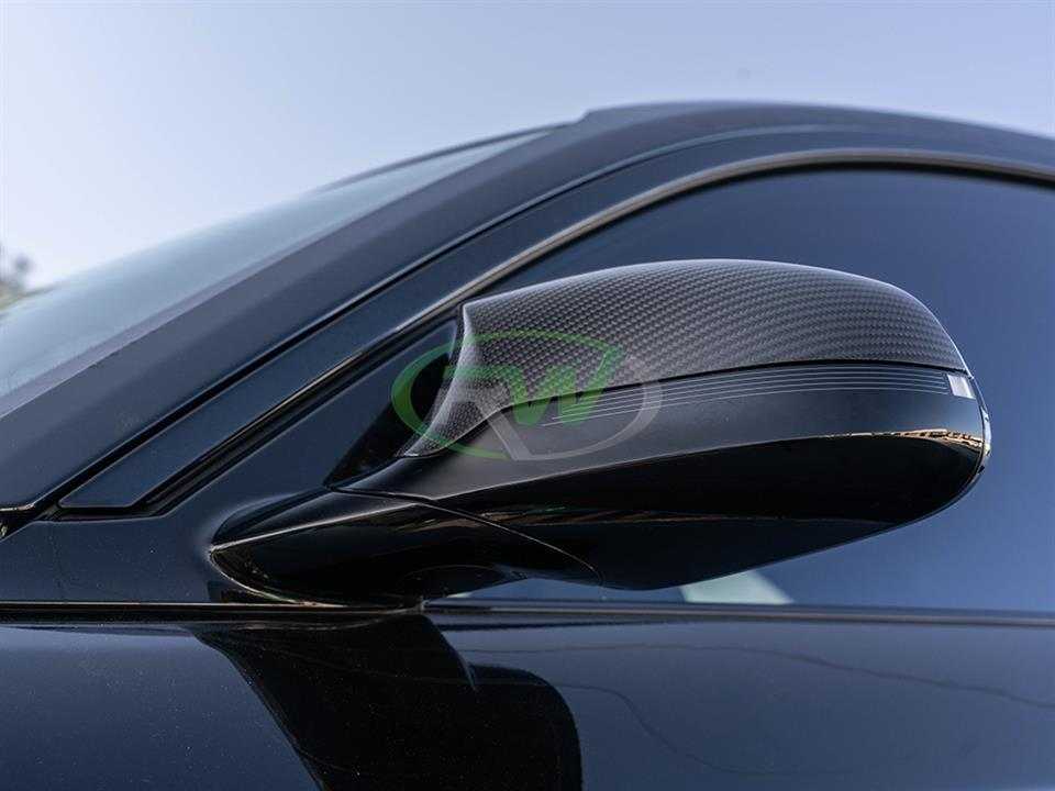 rw carbon fiber bmw f87 m2 competition mirror caps