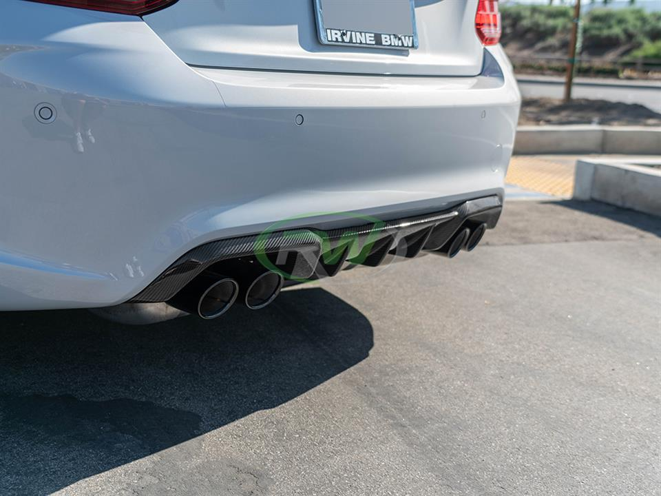 rw carbon fiber bmw f87 m2 competition performance style cf rear diffuser