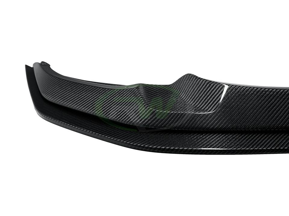 rw carbon fiber bmw f80 f82 83 m3 m4 gts style cf front lip spoiler with cf lower lip